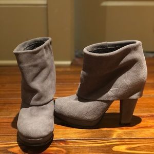 Steve Madden suede booties- like new